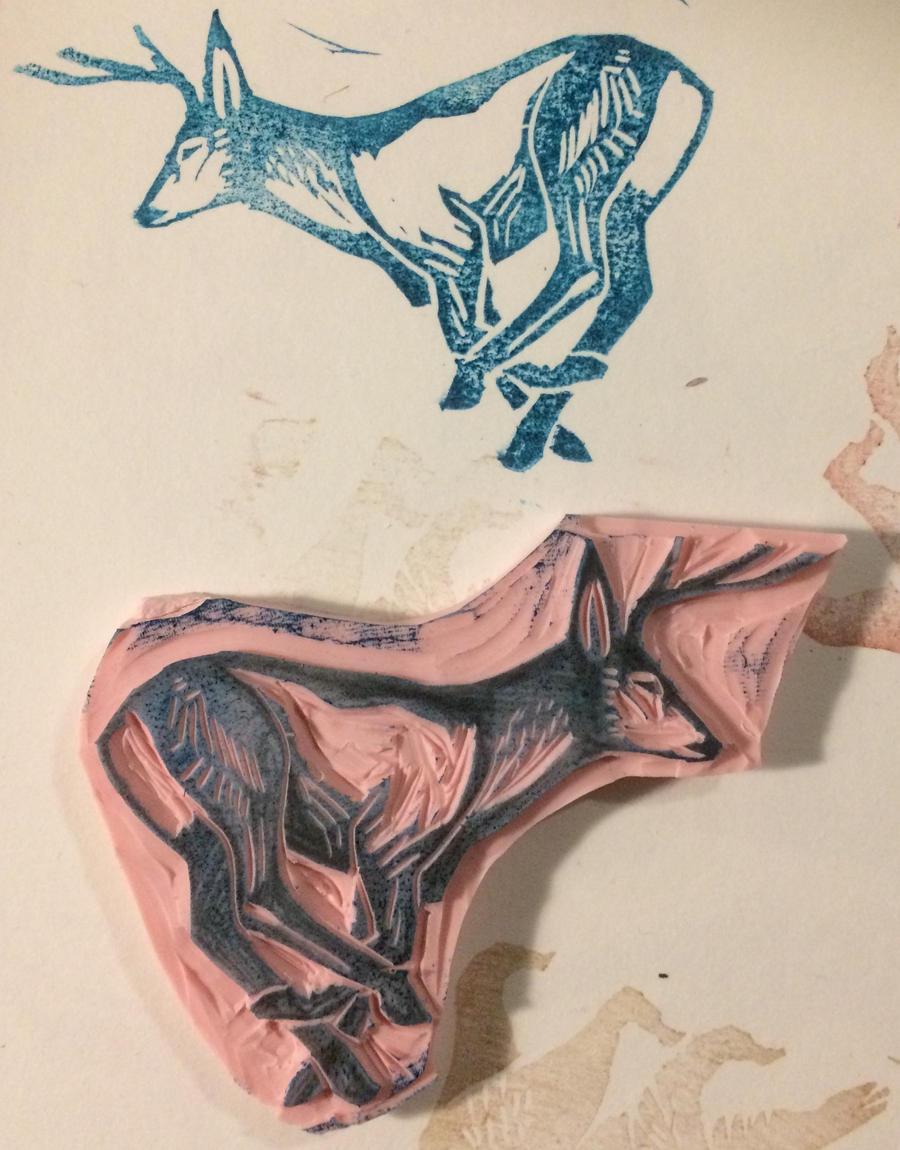 Deer Stamp by Quadrupedal