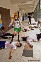 HOTD - Rei zombie-beating by yuUkichama