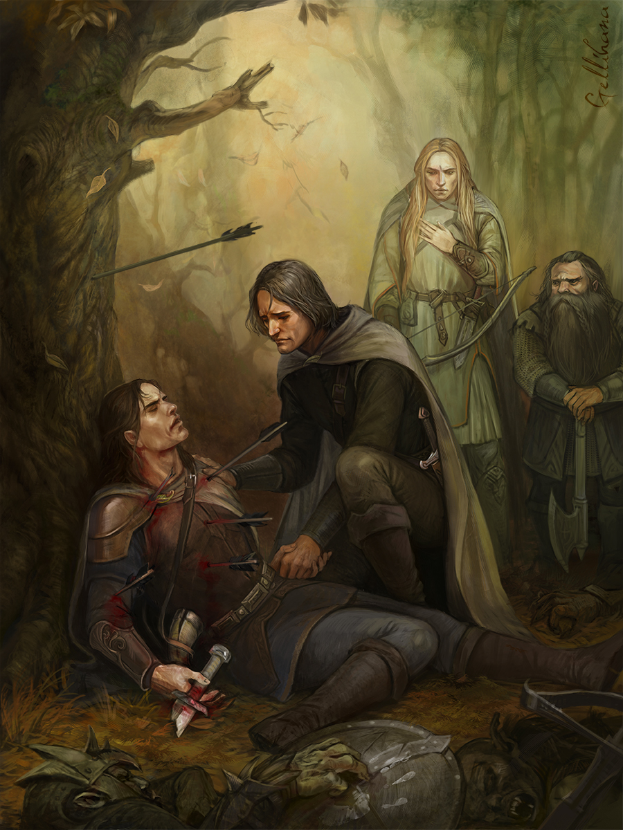 The Death of Boromir by Julaxart