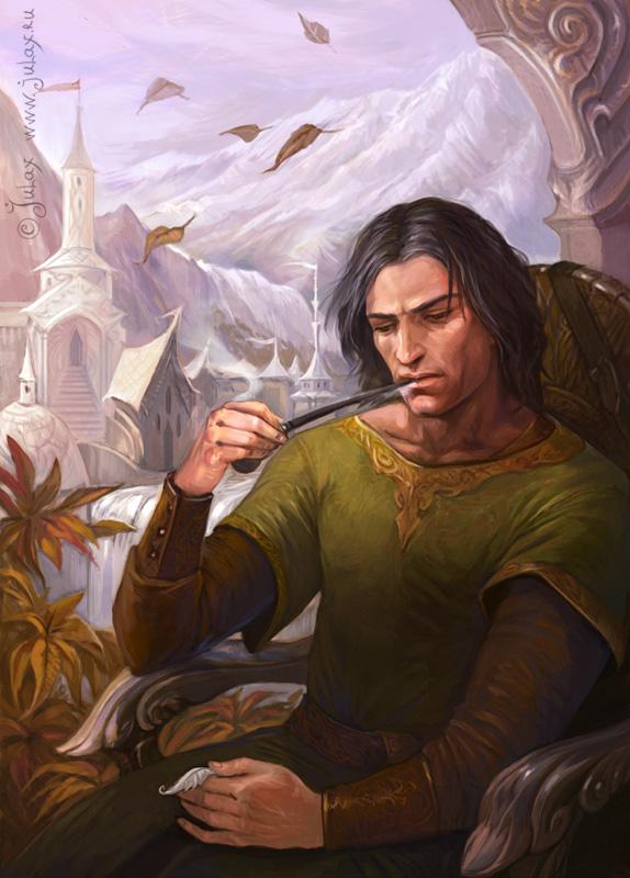 Aragorn in Rivendell by Gellihana-art