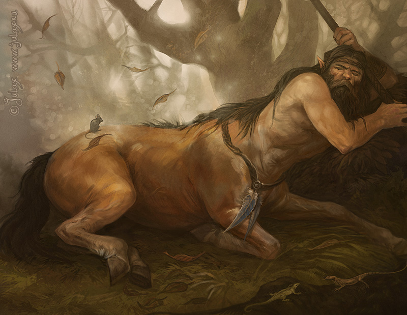 Centaur sleep by CG-Warrior