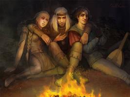 Milva Geralt Dandelion by Gellihana-art