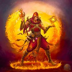 Fire mage by Gellihana-art