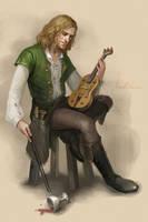 Drunk musician by Gellihana-art