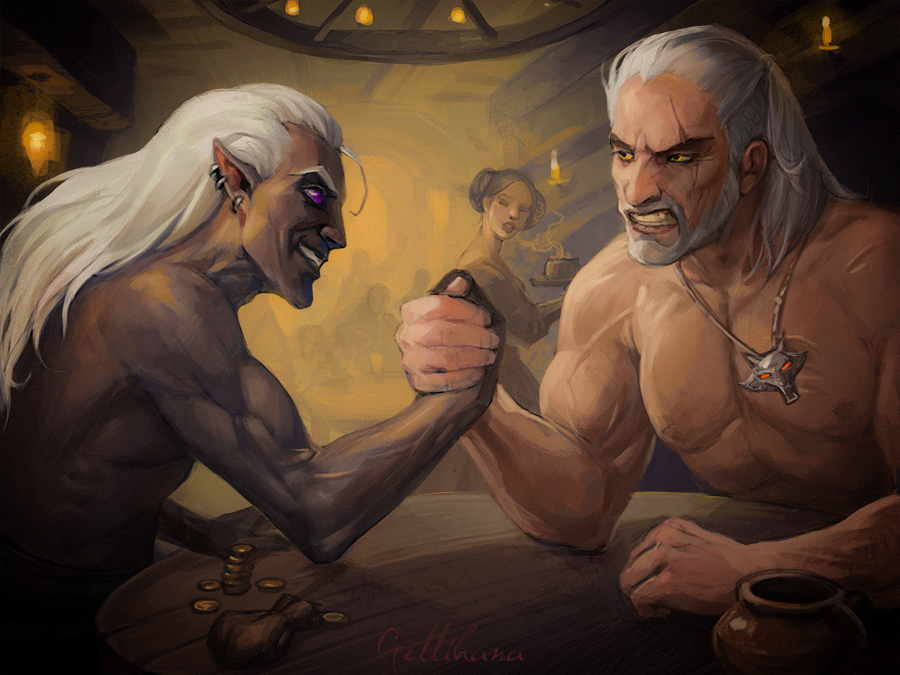 Drizzt Vs Vedzmin by Julaxart