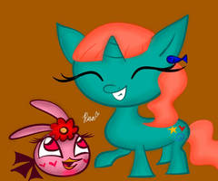 Mary Peach and Sea Peachy Green (GIFT) by Rosabird5673