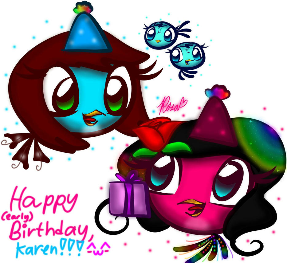 HAPPY (early) BIRTHDAY, KAREN!!!! ^U^ By Rosabird5673 On DeviantArt