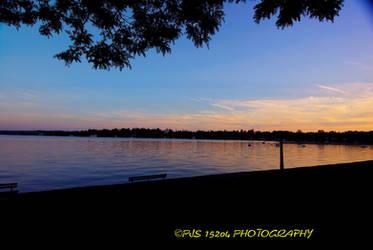 twlight at the lake by pjs15204
