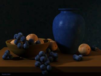 Blue vase by slepalex