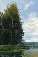 Lake in the park by slepalex