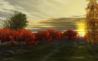 Autumn sunset by slepalex