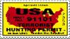 Terrorist Hunting Permit Stamp by stampsbyjesper