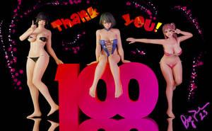 ThankYou! (100+ Watchers) Nyotengu, Tamaki, Honoka
