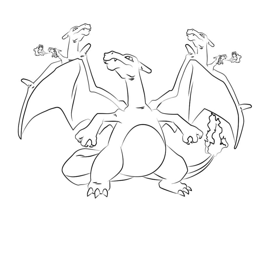 how to draw mega charizard xyz
