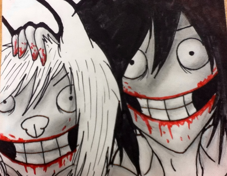 smile dog and jeff the killer by doggirlfriend on deviantart