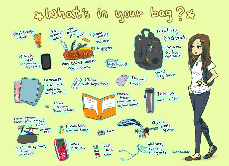 what's in yo bag? by Unknowncake