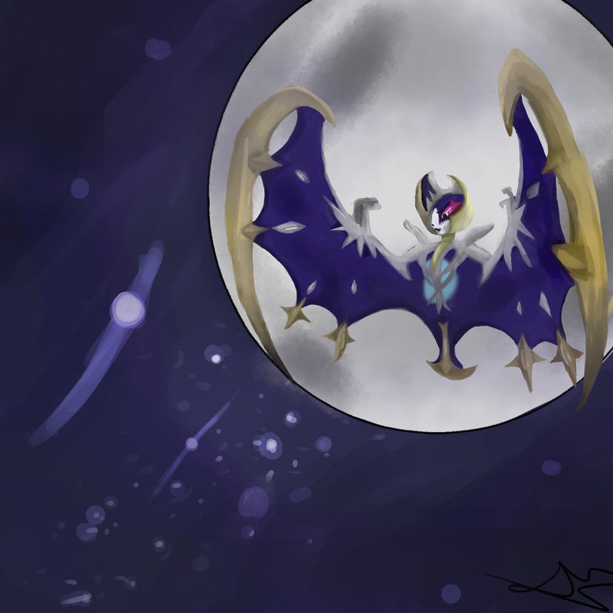 Lunala in the Night by SiennaWolf
