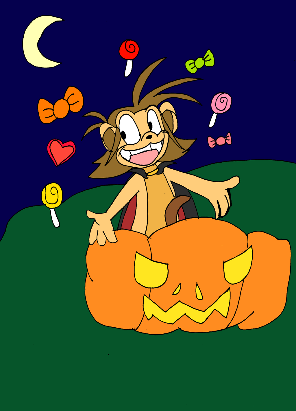 Happy Halloween from Icky Monkey by Aso-Designer