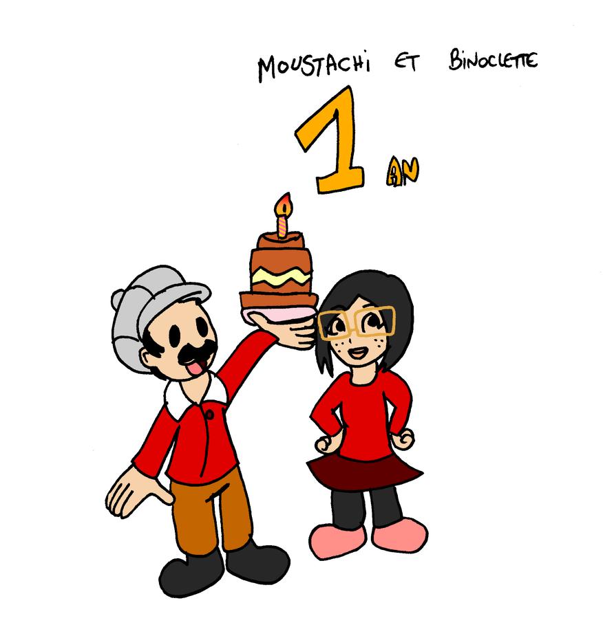 Moustachi et Binoclette 1st by Aso-Designer