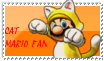 Cat Mario fan stamp by Aso-Designer