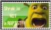 Shrek is not a rapist stamp by Aso-Designer