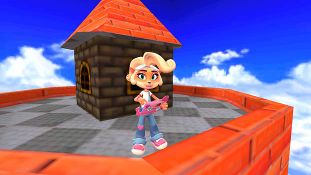 Coco in Whomp's Fortress