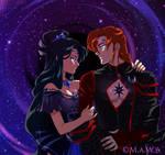 Dark Couple (Sailors Euclase and Carnelian)