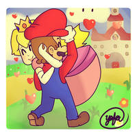 Mario, Returning The Princess to Her Castle by Yafeu64