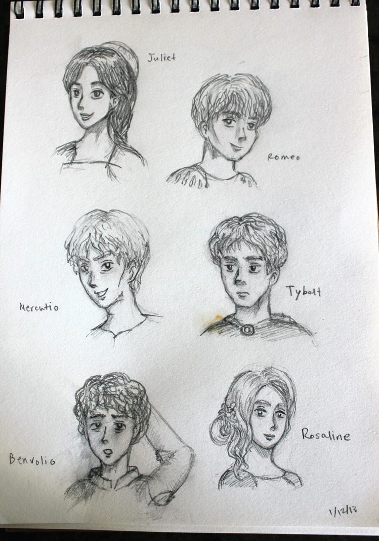 romeo and juliet character sketch juliet Read on to find out more about the key characters from romeo and juliet.
