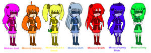 Adventure Time Seven Deadly Sinsters