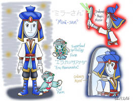 Anpanman OC - Mirror-San and Ella Cassata by dannichangirl