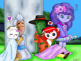 Anpanman - Two Sleepy Couples and One Purple Girl by dannichangirl