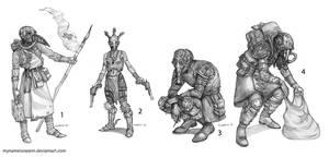 Some character designs or something by AsyaYordanova