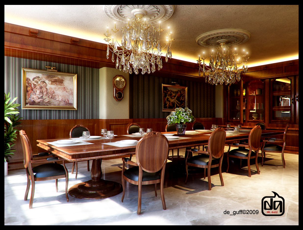Classic Dining Room by deguff on DeviantArt