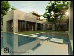 Pool House Sunset