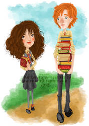 His lovely bookworm, Her beloved ginger by barbaroka