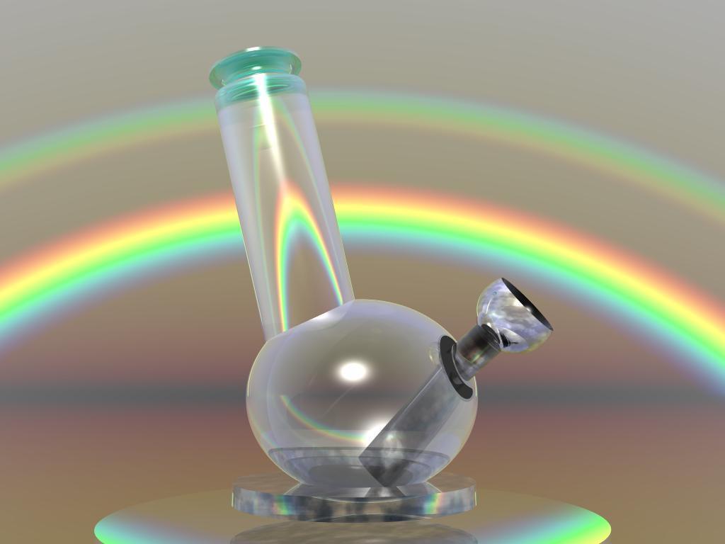 Bong 3D with rainbow by Club-Marijuana