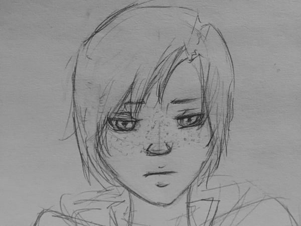 Cyrus Grivas - Quick Sketch by CassielCas