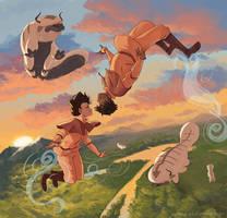 LoK - Free Fall by momo-mia