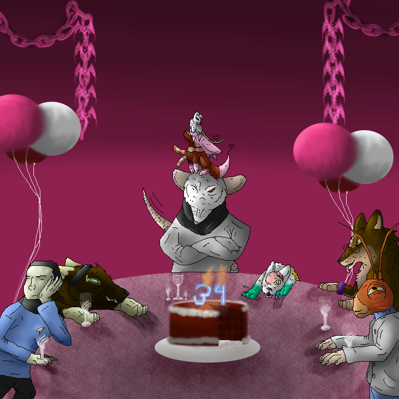 Cake And Balloons -DONE- By Klomonx On DeviantArt