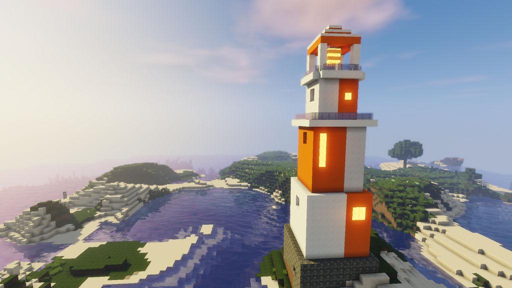 Minecraft Modern Lighthouse By Pumpkyart On Deviantart