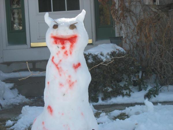 EVIL SNOWMAN by anexara