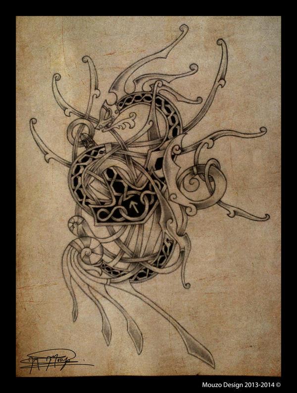 Thor and Jormungandr Tattoo Design by Thrym982
