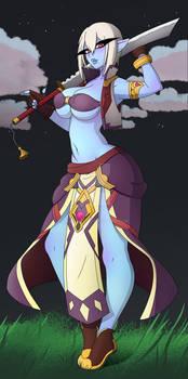 Aelua - Dark Elf Spellsword