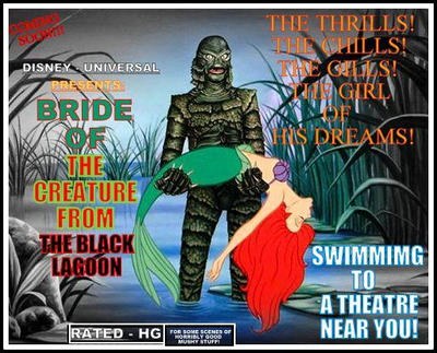 BRIDE OF THE CREATURE FROM THE BLACK LAGOON by Phantanos