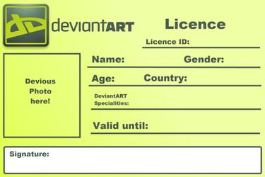 DeviantART Licence - Blank by Dafuqer7