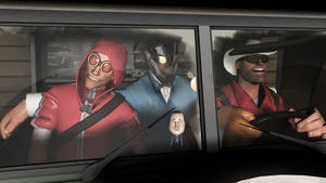 Three dudes in a van...