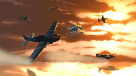 (SFM) Flight of the Warhawks by Dafuqer7