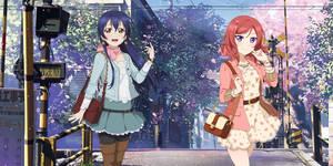 Umi and Maki ( wallpaper )