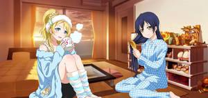 Eli and Umi ( wallpaper )